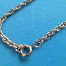 """VINTAGE 24"""" X 1/8"""" SILVER TONE CHAIN NECKLACE. LIGHT WEIGHT"""