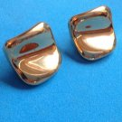 "CLASSY GOLD TONE 1"" SQUARE PIERCED EARRINGS. VERY NICE !!"