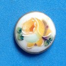 "VINTAGE ANTIQUE PORCELAIN HAND PAINTED YELLOW ROSE 3/4"" CAMEO IN NEED OF SETTING"