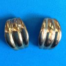 "GOLD TONE PIERCED EARRINGS 7/8"" X 3/4"""