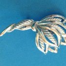 """VINTAGE SILVER TONE WHEAT? DESIGN 2 1/2"""" X 1 1/2"""" LARGE PIN. VERY NICE!!"""