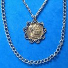 VINTAGE 2 STRAND CHAIN PENDANT NECKLACE JULIUS CEASER & MARC ANTONY? WELL DONE..