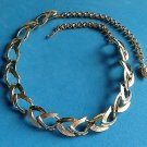 """VINTAGE GOLD & SILVER TONE SHINY/TEXTURED CHOKER  NECKLACE UP TO 18"""" LONG X 5/8"""""""