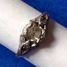 VINTAGE UNCAS ENGAGEMENT STYLE COSTUME RING SIZE 7. STONES INTACT 1 DISCOLORED