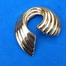 "Napier pin, gold tone, swirl design 1 1/2"" x 2"" - sophisticated."