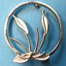 "Roma sterling silver pin, calla lily @ 1 1/8"" in diameter."