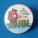 "Boy Scout enameled pin 1986 Bear Creek  Camp  1"" diameter"
