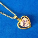 Pendant necklace, gold over sterling (marked 925) .