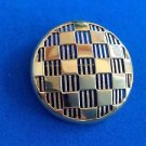 "Crown Trifari pin, gold tone, vintage, elegant  - 1 7/8""  diameter."