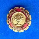 "Fraternal pin  "" Nocturnal Adoration Society "" vintage enamel & gold tone."