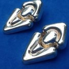 Designer Alunno-Stendardi sterling silver dangling door knocker pierced earrings