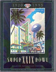 Superbowl XXIX 1995 program very good condition