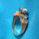 14k gold CZ engagement ring size 7.25 just shy of 6.5g