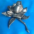 "50.5g sterling rose pin. Huge sterling silver rose 3.25"" x 2.75"""