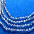 4 strand Aurora Borealis necklace - loads of glitter & sparkle !