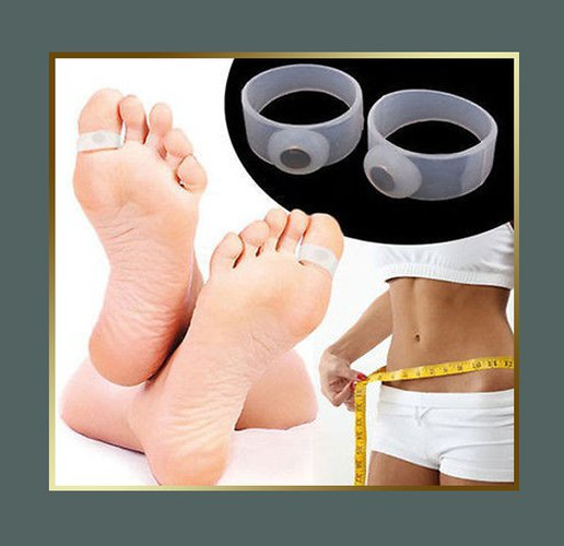 Weight Loss Silicone Magnetic Toe Rings