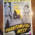 PHANTOM OF THE WEST Tom Tyler William Desmond Original Serial Movie Poster