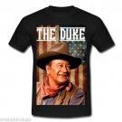 JOHN WAYNE THE DUKE IS AMERICA DUAL SIDED Black T-Shirt  GILDAN