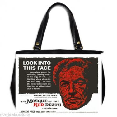 MASQUE OF THE RED DEATH Vincent Price Oversize Office Handbag Purse Leather