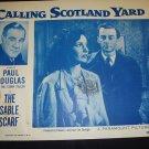 CALLING SCOTLAND YARD The Sable Scarf Paul Douglas Original Lobby Card 2