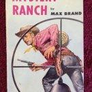 MYSTERY RANCH Max Brand Vintage 1952 Pocket 895 Paperback Western
