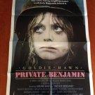 PRIVATE BENJAMIN Goldie Hawn Original Vintage 1980 Movie Poster