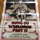 KUNG-FU WARLORDS PART II Original Movie Poster Shaw Brothers! Ultra RARE!!!