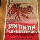 RIN TIN TIN THE LONE DEFENDER Walter Miller June Marlowe Original Movie Poster