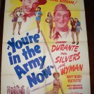 YOU'RE IN THE ARMY NOW Phil Silvers Jimmy Durante Poster