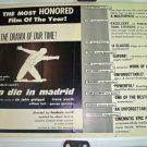 To Die In Madrid Sir John Gielgud War HALF SHEET! RARE!