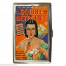 DOUBLE DETECTIVE VINTAGE BAD GIRL Cigarette Money Case ID Holder or Wallet! WOW!