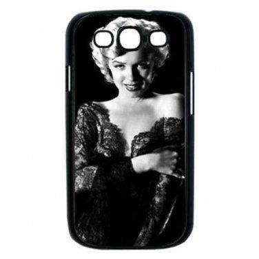 MARILYN MONROE READY FOR ANYTHING Samsung Galaxy S III Case (Black)