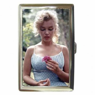 MARILYN MONROE INNOCENT FLOWER Cigarette Money Case ID Holder or Wallet! WOW!