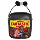 FAMOUS FANTASTIC MYSTERIES ROBOT ATTACK VINTAGE PULP Leather Sling Bag Purse