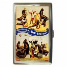 FOREPAUGH AND SELLS BROTHERS CIRCUS SEALS Cigarette Money Case Or Wallet!