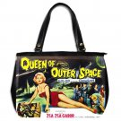 QUEEN OF OUTER SPACE Zsa Zsa Gabor Oversize Office Handbag Purse Leather 2 Sided
