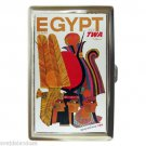 TWA TRANS WORLD AIRLINES EGYPT Cigarette Money Case ID Holder or Wallet! COOL!