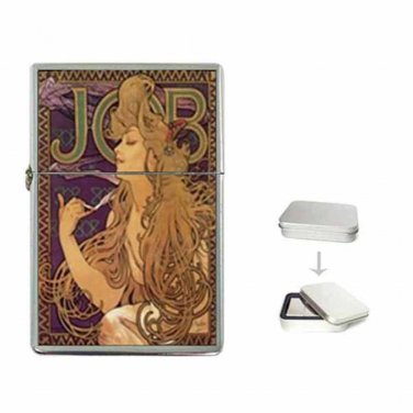 ALPHONSE MUCHA PSYCHEDELIC JOB ART  Flip Top Lighter