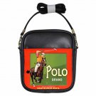 VINTAGE POLO MAN ON HORSE STYLIN' AD Beautiful Leather Sling Bag Small Purse