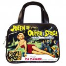 QUEEN OF OUTER SPACE ZSA ZSA GABOR Classic Black Leather Handbag Purse