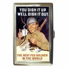 WORLD WAR 2 POSTER BEST FED SOLDIER Cigarette Money Case ID Holder or Wallet!