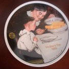 NORMAN ROCKWELL Mother's Day 1989 Sunday Dinner Knowles Plate COA