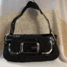 Hot Guess Baby Belle Black And Silver Purse Shoulderbag Bag