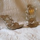 Super Sexy Aldo Gold and Bling CRystals High Heel Stiletto Sandals Size 8.5 / 39