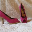 "Super HOT Madden Girl Pink Sexy Peak Toe Shoes Size 7.5  4"" Heel"