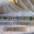 lot of 4 Exquisie Handemade Tapestry  Bell Ringer Plus 3 long matching pieces