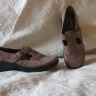 Easy Spirit Brown Nubuck Leather Suede Mary Jane Shoes Size 7.5M