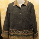 Coldwater Creek Button Thick Velvet Jacket Made From Italian Fabric Size S