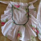 Super Flirty Adorable Ruffled Unique Vintage Apron