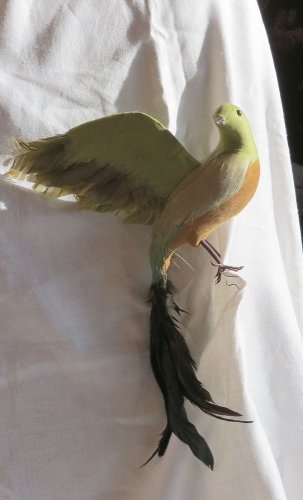 007 Spectacular HUGE  Vintage Bird Ornament with Feathers Mulitiple Available